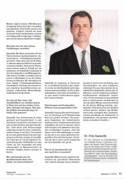 Pharmatime:Dr.Fritz Gamerith spricht über Herausforderungen, Neuerungen und Trends bei Schwabe Austria. – © Screenshot Schwabe Austria