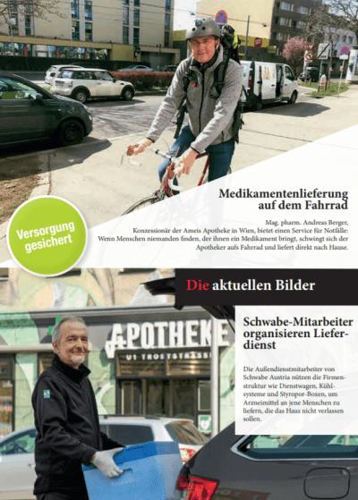 Apothekerkrone: Medikamentenversorgung bleibt gewährleistet - Trotz der Corona-Krise bleibt die Medikamentenversorgung gewährleistet – © Screenshot Schwabe Austria