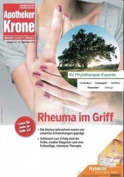 Apotheker Krone Ausgabe 13/2019: Mehr Informationen über Schwabe Austria als Ihr Phytotherapie Experte! – © Screenshot Schwabe Austria