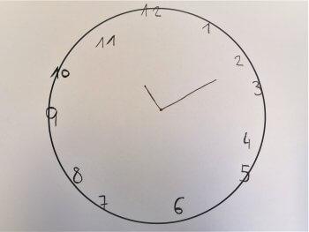 Leichte visuelle Fehler Uhr