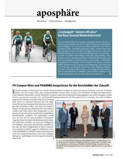 Apotheker Krone: Bericht über das Rennen der Crataegutt®-Seniors - © Screenshot Apothekerkrone