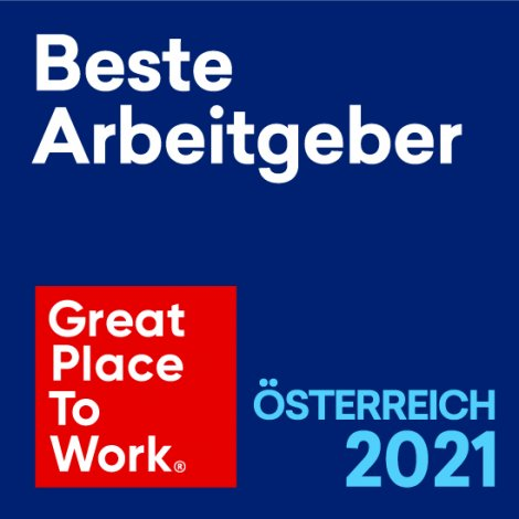 Great Place to Work Beste Arbeitgeber Österreich 2021 – © Great Place to Work